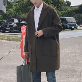 【古绩】英伦风男士毛呢大衣外套