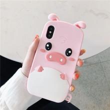 粉色硅胶猪苹果x手机壳7plus女款软壳8plus个性iphone6s全包软套iPhoneXS MAX保护套4/5代全包防摔ins网红新