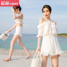 泳衣女超仙三件套性感韩国温泉小香风比基尼遮肚保守爆款 2018新款