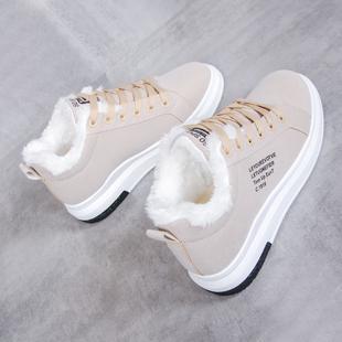 冬季加棉加厚学生2018韩版潮加绒保暖防滑厚底运动鞋冬天的棉鞋女