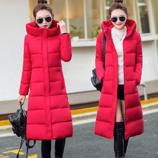 冬装棉衣女长款过膝2018新款韩版棉袄女加厚冬季外套反季羽绒棉服
