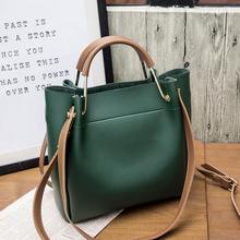 女包水桶包潮韩版 包包女2018新款 简约百搭斜挎包手提包单肩包大包