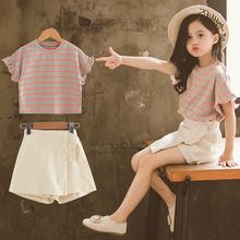 Children's Summer Dress Girls New Super-Westernized Suit Summer Children's Fashion Clothes Korean version of children's clothes
