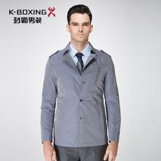 劲霸男装商务休闲款短版茄克单排扣小翻领商务短版夹克