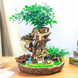 欧式大号圆形树屋花盆创意多肉盆栽 span class=h>室内 /span>微景观