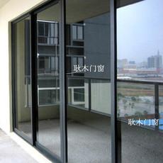 广州价格透明无杂费凤铝铝合金门推拉门 隔音门单层钢化玻璃趟门