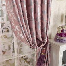 纯色全遮光窗帘布料成品定制简约现代客厅卧室双面隔热落地窗飘窗