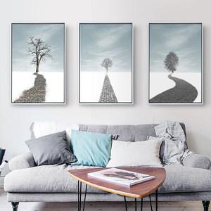 北欧唯美风景装饰画图片