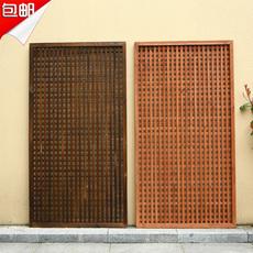 碳化防腐木篱笆大型栅栏爬藤架网格屏风花架庭院围栏装饰家居隔断