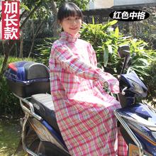 全身防晒骑车防紫外线披肩带帽遮脸女长款 电动车防晒衣棉夏季长袖