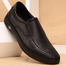 真皮商务休闲鞋 流行男单鞋 套脚软底男鞋 英伦风皮鞋 新款 头层牛皮鞋