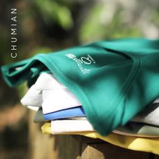 初棉2017夏季新款纯色基础款短袖T恤女修身 圆领简约短袖女体恤