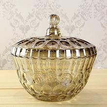 水晶玻璃大糖果盒储物罐干果盒果斗装饰器皿摆件家居饰品结婚礼物