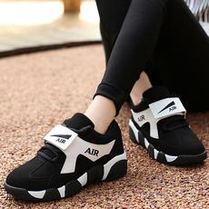 潮情侣运动鞋女跑步鞋秋2016新款韩版休闲鞋厚底增高学生女鞋加绒