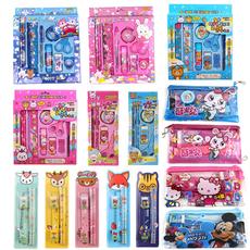 韩国创意文具批发卡通9件套套装礼盒学生学习用品儿童小礼物奖品