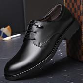 贝罗盟秋冬新款男士皮鞋真皮商务休闲皮鞋系带英伦正装男皮鞋男