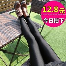 打底裤女秋款外穿显瘦光泽裤紧身裤2016新款高腰铅笔小脚裤子长裤