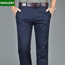 夏季新款男装长裤NIANJEEP商务休闲裤男士西裤直筒宽松纯棉男裤子