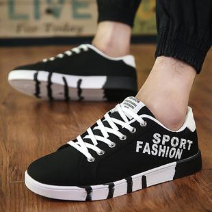 春季运动男士休闲低帮板鞋韩版潮流帆布男鞋子平底透气青少年潮鞋