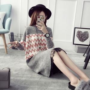 套头毛衣女士中长款冬季连衣裙宽松打底衫长袖2016韩版秋冬装衣服羊绒衫女