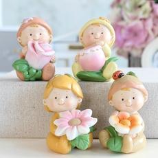 创意特色家居装饰品客厅小娃娃摆件工艺品生日结婚礼物办公室摆设