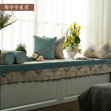 美式飘窗垫子定做欧式窗台的垫卧室客厅做榻榻米阳台卡座垫布巾巾