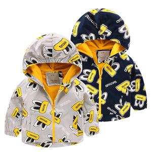 男童加厚外套风衣 2016秋装秋冬童装韩版儿童宝宝加绒上衣潮U2524女童外套