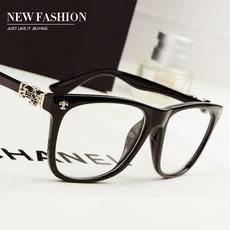 复古大框眼镜女朋克板材黑框男女士框架眼镜 可配近视眼镜框架