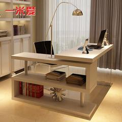 一米爱家具简约现代烤漆转角电脑桌电脑桌台式桌家用书桌书架组合
