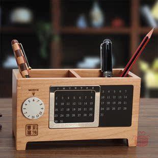 不二礼坊万年历笔筒商务办公礼品实用创意礼物送男女老师公司领导