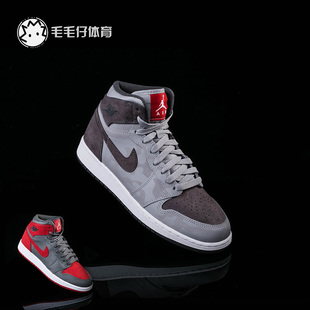 AIR JORDAN 1 RETRO HI PREM灰迷彩女子休闲篮球鞋822858-027-032