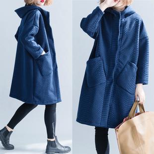 洋气大码女装胖妹妹冬装外套显瘦韩国加绒加厚文艺中长款保暖棉衣
