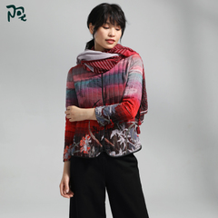 【免】阿尤原创女装秋冬新款棉服女短款民族风冬季棉衣A174W1203