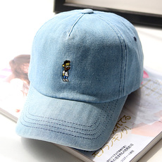 牛仔棒球帽夏秋男女帽子spany韩国代购刺绣嘻哈帽运动防晒遮阳帽