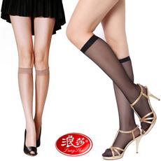 10双浪莎中统袜小腿丝袜中筒丝袜 浪沙中长丝袜透明超薄中筒袜女