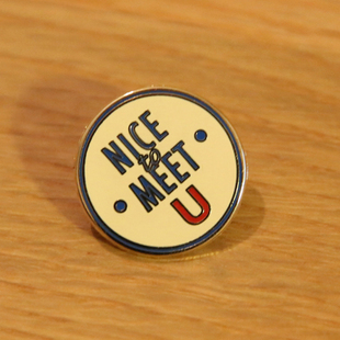 NTMY. NICE TO MEET U Classical Enamel Pin 经典胸针[现货]