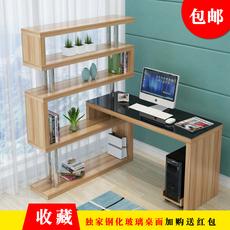 新款简约现代 钢化玻璃电脑桌台式家用办公桌 简易学习书桌写字台