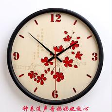北欧超静音挂钟客厅卧室钟表简约挂钟田园创意挂钟家用钟表中国风