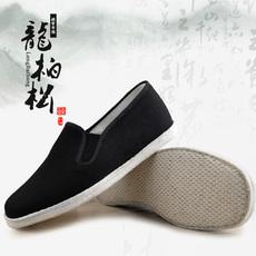 龙柏松老北京布鞋男纯手工千层底男鞋中老年透气开车鞋爸爸单鞋