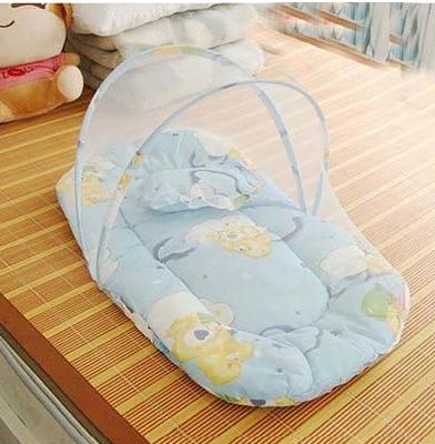 免安装宝宝婴儿蚊帐带抱被枕头纱帐密闭式可折叠蒙古包婴儿床宝宝蚊帐