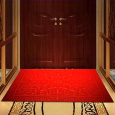 进门地垫门垫入户门厅大门口防滑蹭脚垫家用吸尘红脚踏垫大号定制