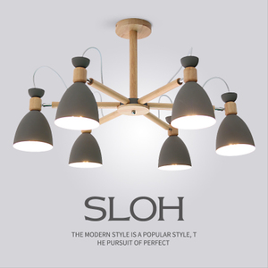 北欧灯具客厅吊灯实木现代简约风格马卡龙创意小户型卧室餐厅灯具吊灯