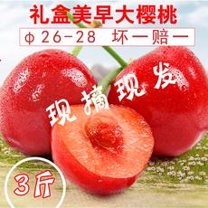 现摘现发红灯美早大樱桃非智利车厘子新鲜现货生鲜水果3斤空运
