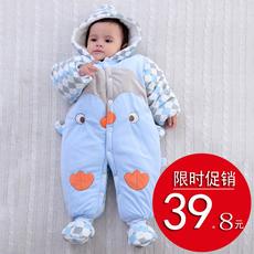 婴儿连体衣加厚秋冬新生儿衣服棉宝宝外出服0-1岁儿童冬季哈衣