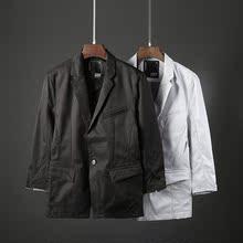 小西装 中袖 百搭七分袖 西服男装 潮流外套1315 2018秋季男士 韩版 修身