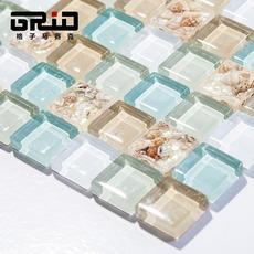 石材贝壳马赛克背景墙砖瓷砖水晶玻璃客厅餐厅电视卫生间浴室墙贴