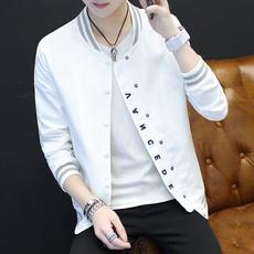 男士夹克2017春季韩版修身青少年时尚薄款外套潮流帅气男装棒球服