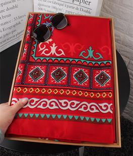 波西米亚棉麻围巾 旅游防晒民族风超大披肩 空调房披肩遮阳沙滩巾