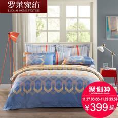 罗莱家纺生活出品四件套 欧式纯棉被套床单床品全棉被单
