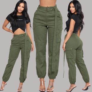 Streetwear Cargo Pants Women Casual Joggers Ladies Pants裤子